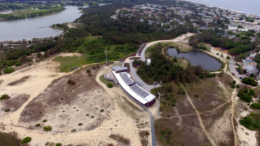 Aerial view, the Chesapeake Bay Foundation Brock Environmental Center