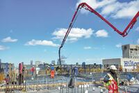 Pumping Concrete Through Induction-Hardened Pipes