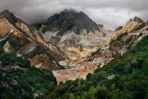 """Edward Burtynsky, """"Carrara Marble Quarries #20, Carrara, Italy, 1993."""" Chromogenic color print."""
