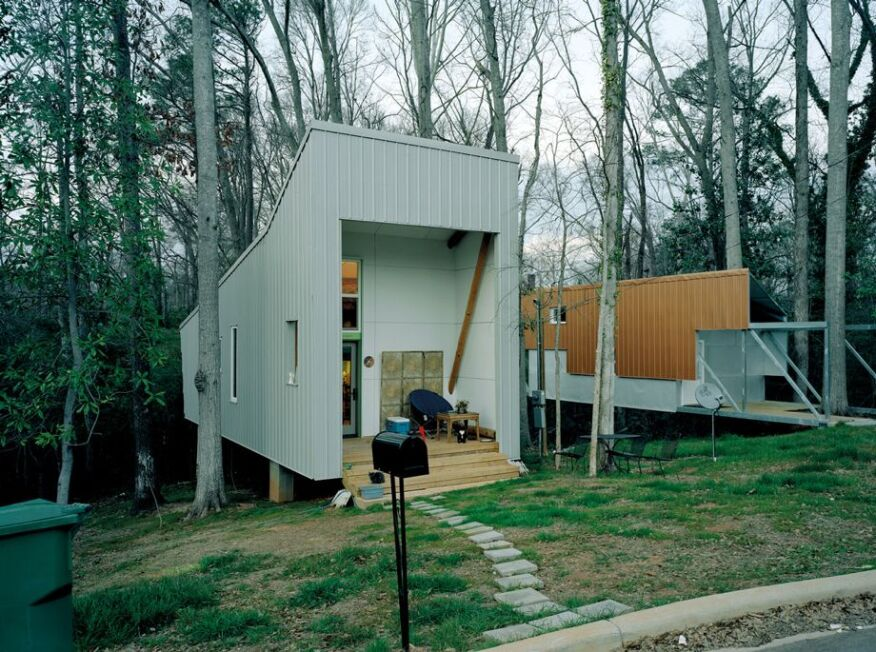 The $20,000 home from Rural Studio, the undergraduate program of the School of Architecture, Planning and Landscape Architecture at Auburn University.