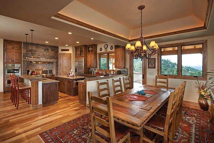 This appealing rustic design is
