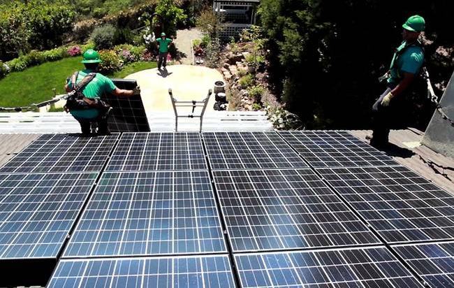 Tesla Roof Array Installation