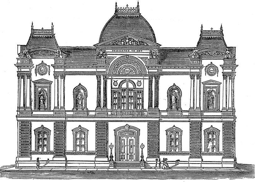 1859 drawing of the Renwick Gallery