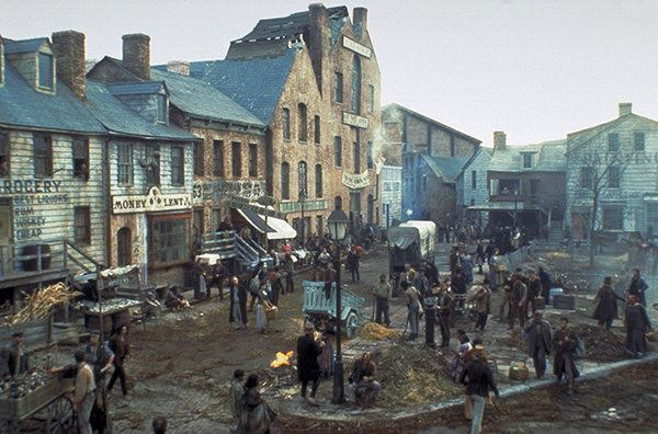 A still from Ferretti's set for Gangs of New York.