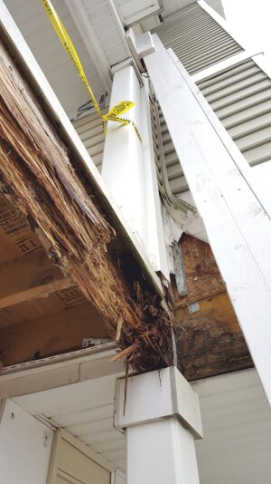 The deterioration to beams occurred throughout the condo complex.