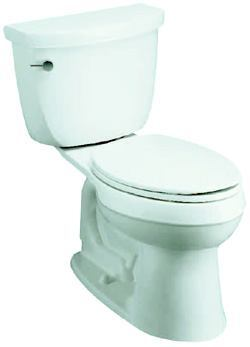 COMFORT FIT: Cimarron is engineered to handle the flushing demands of a commercial or residential setting, the manufacturer says. The toilet features a 3 ¼-inch flush valve combined with a direct-fed jet that maximizes water flow and allows for a 1.4-gallon flush setting option that saves up to 2,000 gallons of water per year. It has a 2 1/8-inch glazed trapway, an 11-by-8-inch water area, and a 16 ½-inch high bowl that makes it easier for users to sit and stand. Kohler. 800-456-4537. www.kohler.com.