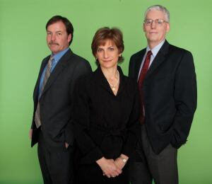 Left to right: John Buckley III, COO; Helen E. Dragas, president and CEO; Robert C. Makin, CFO.
