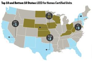 Does Your State Have the Most—or the Fewest—LEED-Certified Homes?