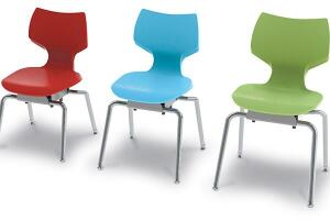 Teachers once chastised fidgety students, but, according to Smith Systems, the new thinking in education suggests that allowing some movement while seated may improve users' breathing and posture. Unlike traditional classroom chairs, the Flavors Noodle Chair has a proprietary suspension below its seat pan that allows it to shift slightly to accommodate the motions of users—whether they lean left or right or tilt forward or back. Greenguard certified to meet indoor air quality standards for children and schools, the chair also engages core muscles, similar to the benefit of sitting on a large exercise ball, the company says. smithsystem.com