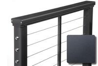 Textured Black Aluminum Railings