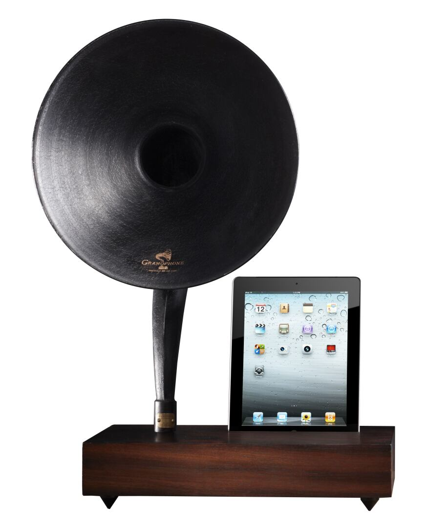 Restoration Hardware Gramophone: MP3 Gramophone Docking Station From Restoration Hardware