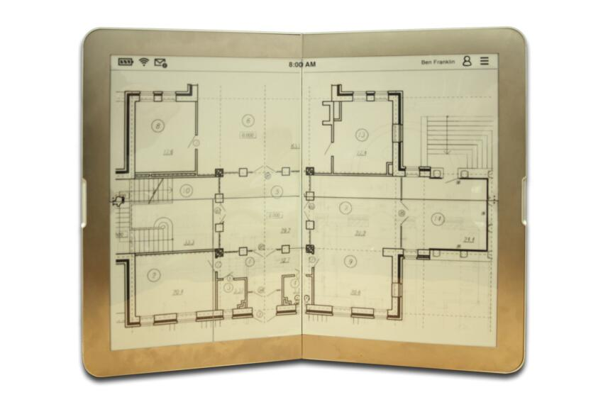 Zephyr users can view B-size drawings at full scale as well as D-size drawings, by quandrant. The e-portolio's display can be scaled to match the drawing scale.