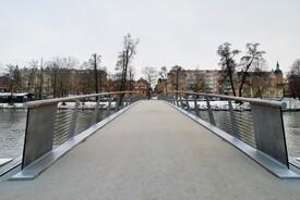 Snow-free pedestrian bridge in Sweden by Erik Andersson