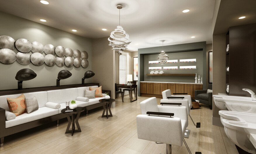 Among the Avanti's amenities are this salon/spa for residents.