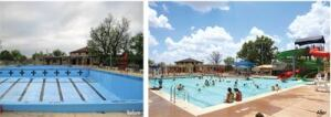 San Angelo Pool in San Angelo, Texas, is a historic WPA-era pool that opened in 1939. Due to code deficiencies and leaking issues, the pool was closed in 2009. It was reopened in June 2012 with new features and a fresh look that retains the historic character.