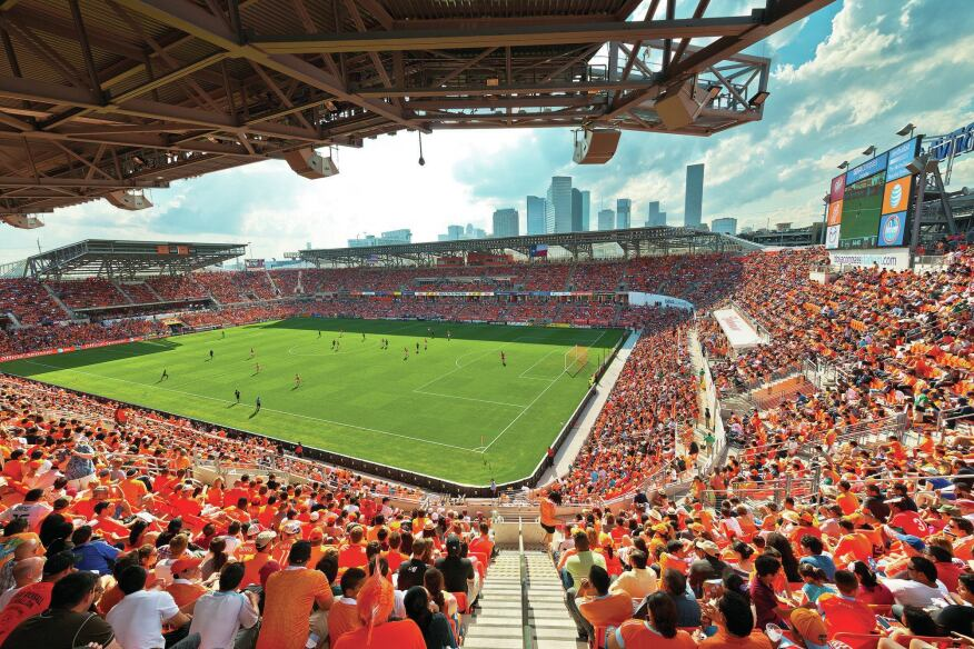 Inside BBVA Compass Stadium