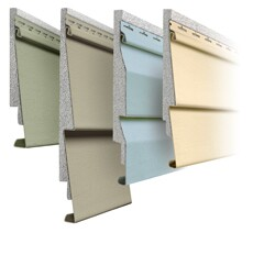Examples of insulated vinyl siding.