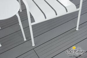 "Design choices in composite decking can seem limited. To appeal to those with a modern aesthetic, Cali Bamboo offers BamDeck 3G Wide, which is 50% wider than standard composite decking. Made entirely of recycled bamboo fibers and plastic, the 8¼"" wide decking is 96"" long and ¾"" thick. It is offered in a slate color. calibamboo.com"