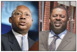 Former HUD SecretaryAlphonso Jackson (left) and PhiladelphiaHousing Authority Executive Director CarlR. Greene.