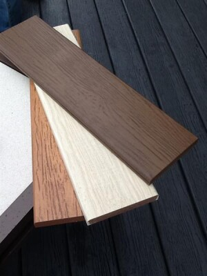 NyloDeck by NyloBoard is made from recycled carpet fibers and resin, creating a sustainable alternative to composite deck boards. The product can span lengths of 24 inches on center. It features a wood grain look and consistent coloring throughout its core. www.nyloboard.com