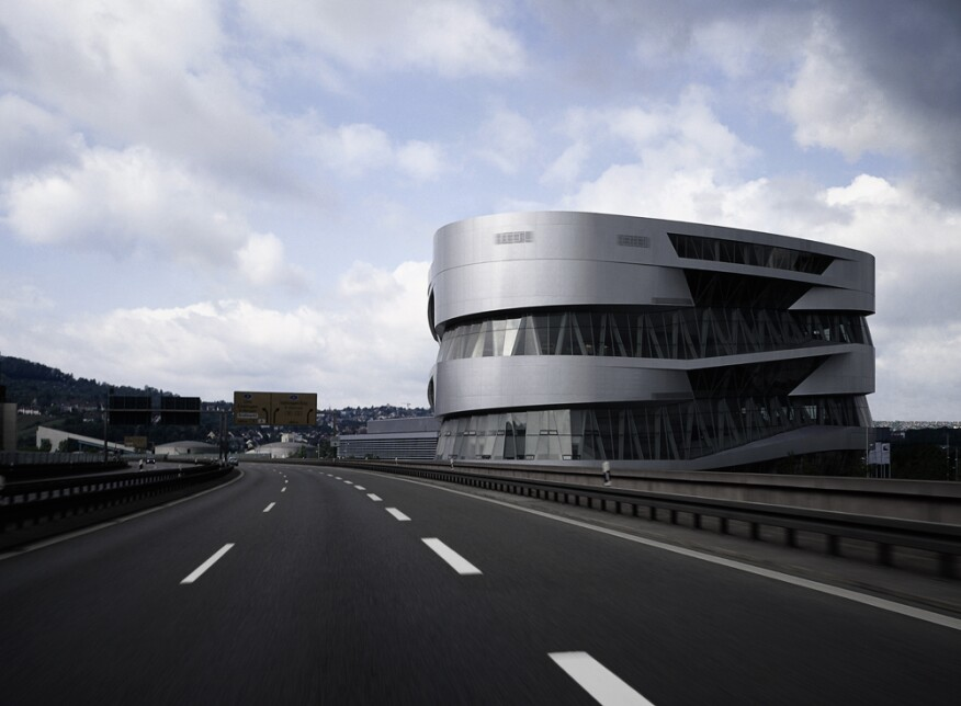 Mercedes-Benz+Museum%2c+Stuttgart%2c+Germany.