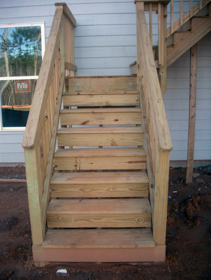 2x4 handrails are not graspable, especially by children, the elderly, and those with impaired mobility, and should be avoided.