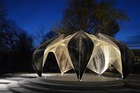 Robots Fabricate a Lobster-Inspired Pavilion