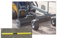 Skid steer grader blade for consistent grade