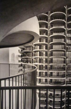 """EXHIBIT    In 1959, when everything was about to change on the north bank of the Chicago River, Bertrand Goldberg presented his plans for Marina City and described it as """"a tremendous sunflower."""" Original drawings, photographs, and blueprints for the project are on exhibit and on sale at Chicago's ArchiTech Gallery through Aug. 29.  architechgallery.com    Hannah McCann"""