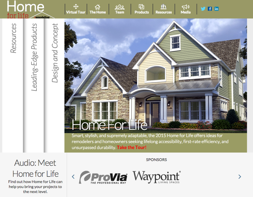 Opening web page for www.homeforlife.net