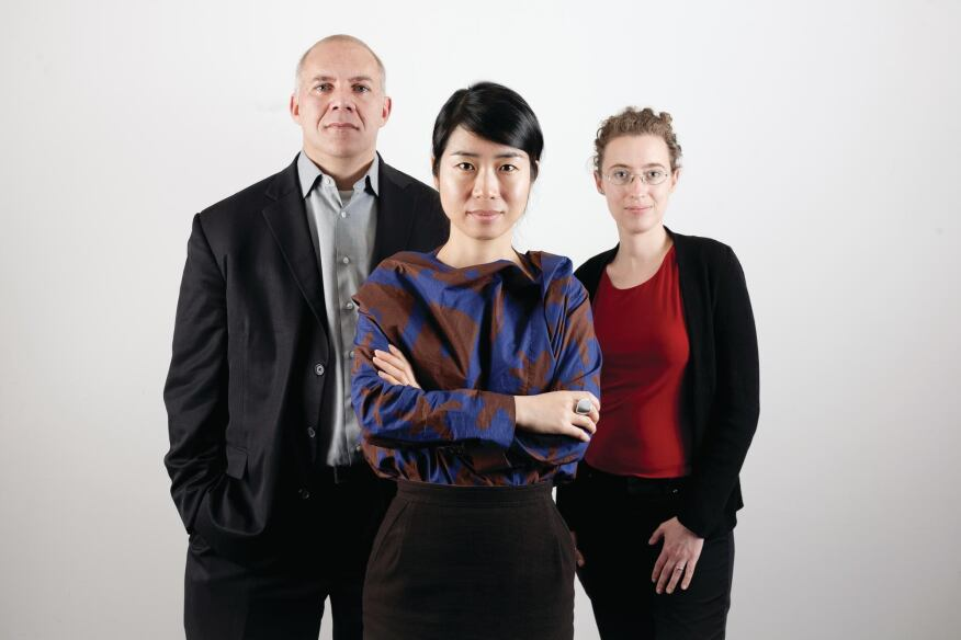 Jury members (left to right): Gordon Gill; Jinhee Park; Martina Decker