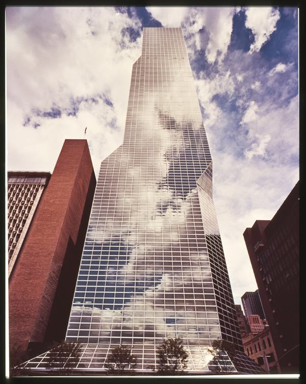 Opened in 1976, the One UN New York hotel, formerly the Millennium UN Plaza hotel, designed by Kevin Roche, FAIA, is clad in PPG's Solarban glass.