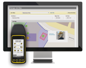 Information scanned from equipment in the field is integrated into Trimble's Asset Manager.