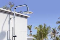 Outdoor Shower Co. Offers Wall Mount and Free-Standing Showers