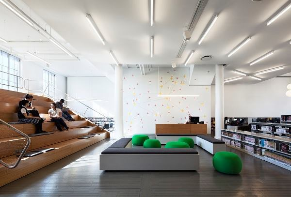 New York Public Library, Hamilton Grange Teen Center; Rice+Lipka Architects; New York City