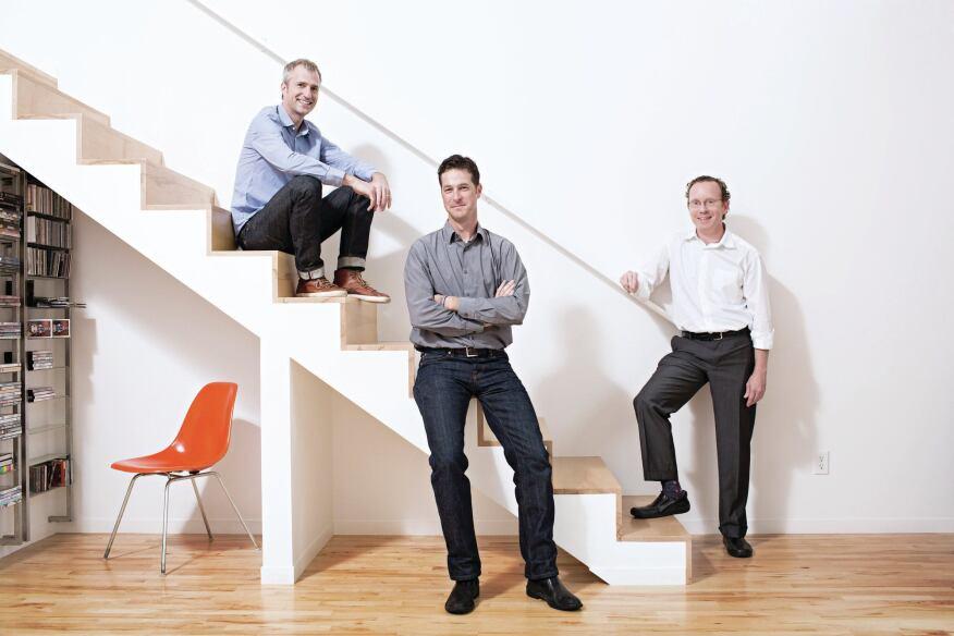 KEM Studio co-founders (from left to right) Jonathon Kemnitzer, Brad Satterwhite, and Jon Taylor in the Madison Residence.