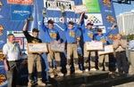 The winners of the 2010 Bricklayer 500. From left to right are Justin Jakubisin, toughest tender; Ken Rutley, second place; Garrett Hood, first place; Joseph Vanek, top craftsman; and Adam Vaske, third place.