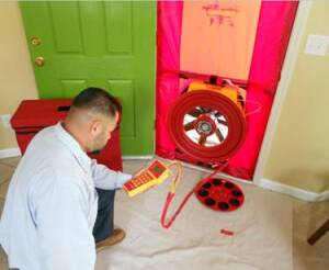 A blower door is a primary tool for locating leaks in the building envelope that can lead to unhealthy indoor air.