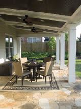 Figure 11. Stone flooring and a stained wood ceiling give this porch a level of finish that the homeowners will appreciate daily and visitors will remember.