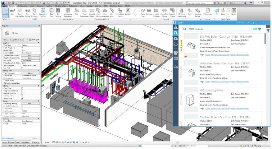 Unifi's content management system for BIM objects can help organize even the most unorganized library.