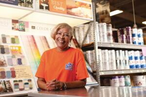 Credit Rebecca Gates for the paint section's growth at Nabors Home Center in Houston, Miss. �She is totally committed to that category,� owner Lee Nabors says.