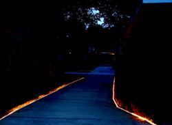 Light ShowTERRA-LUME OFFERS A COOL ALTERNATIVE TO standard landscape lighting. An excellent solution for lighting pathways, driveways, or anywhere ground-level illumination is important, the system consists of an extruded aluminum track that houses 25,000-hour rope lights. It can withstand heavy vehicle traffic, the company says, and can be painted to match existing concrete. Cost: $26.13 for a 4-foot aluminum track section and $3.80 for a 4-foot rope section. LaneLight Systems. 713-303-4676. www.lanelight.net. Circle no. 104.