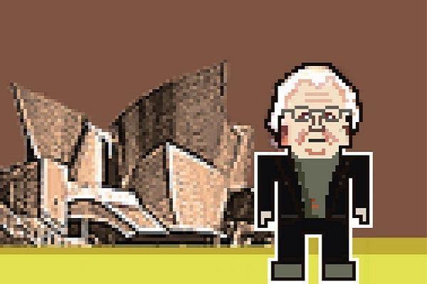 Frank Gehry, with Walt Disney Concert Hall.