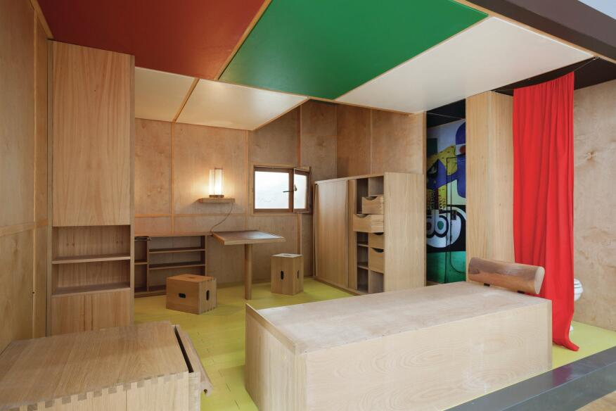Le Corbusier's own summer cabin in Roquebrune-Cap-Martin, France, was re-created by Italian furniture company Cassina.