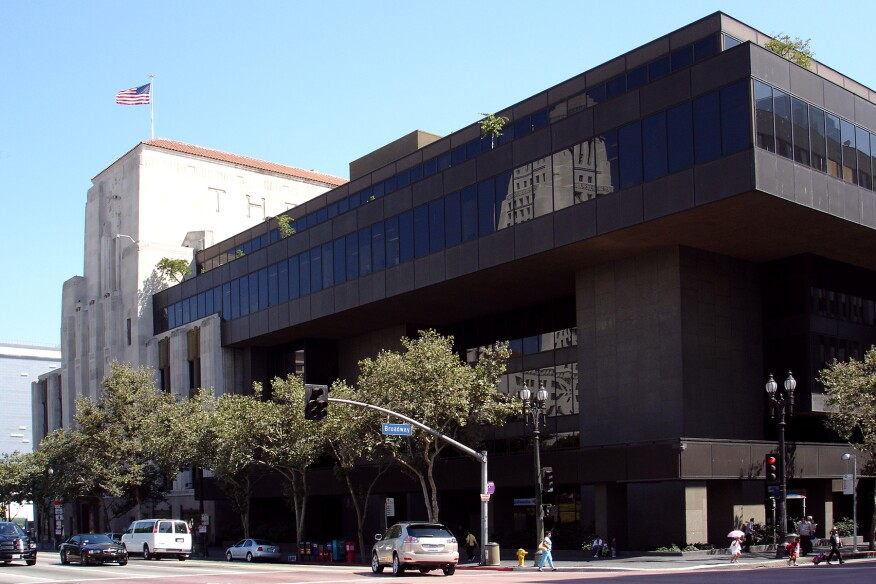 Pereira's LA Times Headquarters addition, 1972