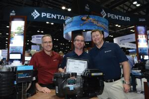 Pentair's SuperMax VS pump wins Best Green Product.