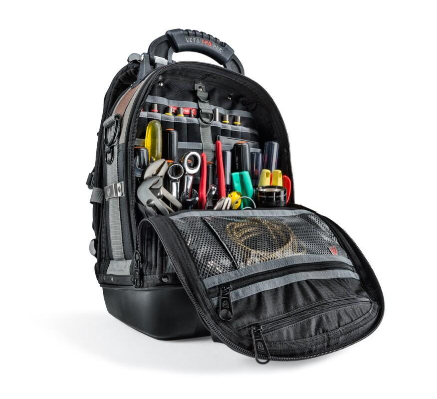 "Featuring two interior compartments, the VETO Pro Pac Tech Pac has a molded waterproof base and a sturdy 5 ½"" wide framework"