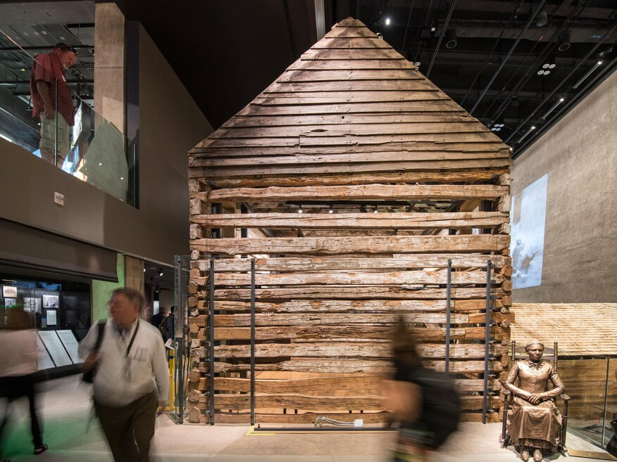 A preserved Reconstruction-era house from a freedman's settlement