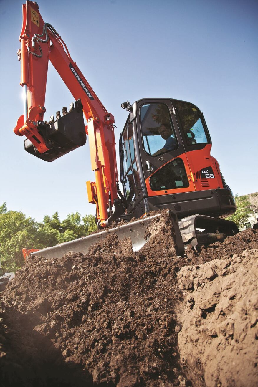 Doosan Dx63 3 And Dx85r 3 Excavators Concrete