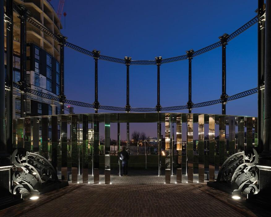 gasholder park, king's cross, london | architectural lighting